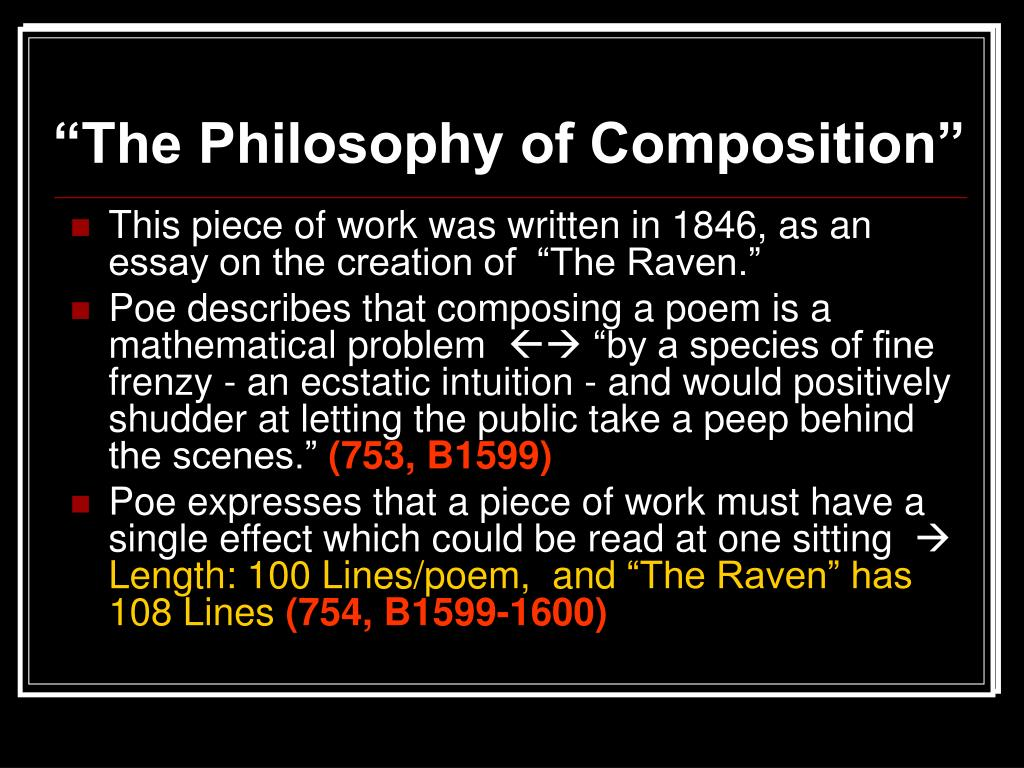 """The Philosophy of Composition"""