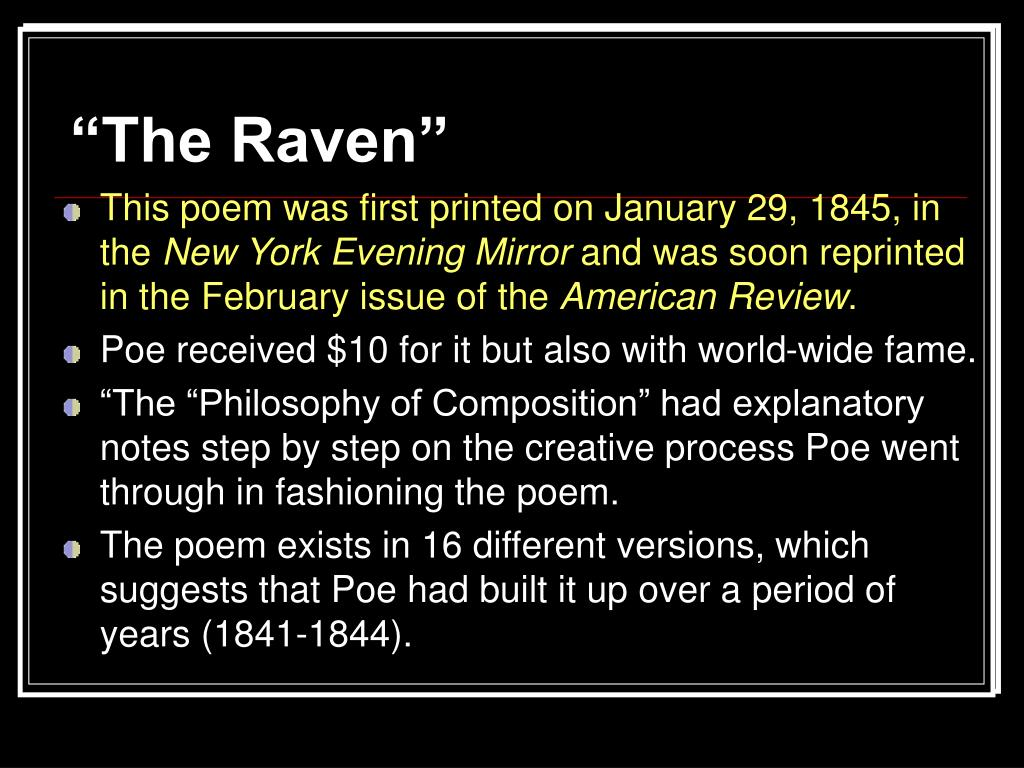 """The Raven"""
