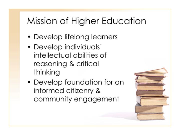 Mission of higher education