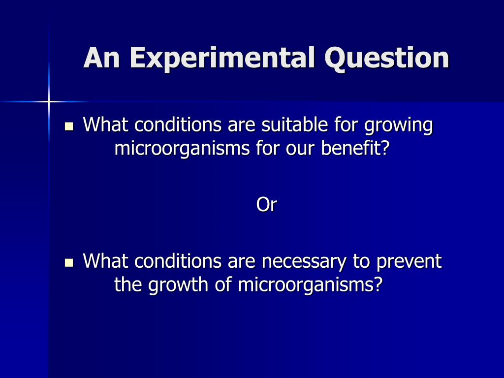 An Experimental Question