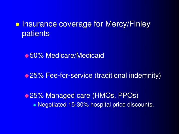 Insurance coverage for Mercy/Finley patients