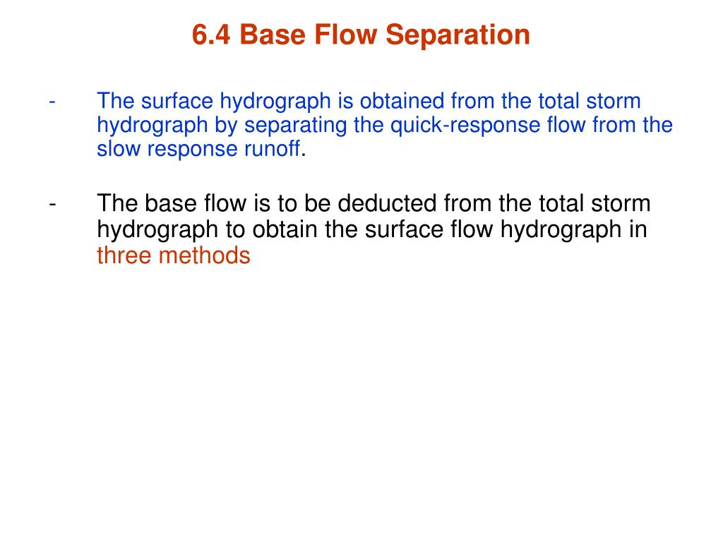 6.4 Base Flow Separation