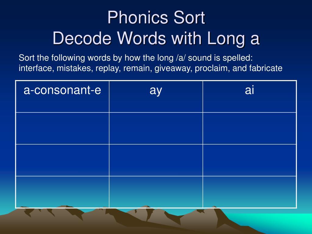 Phonics Sort