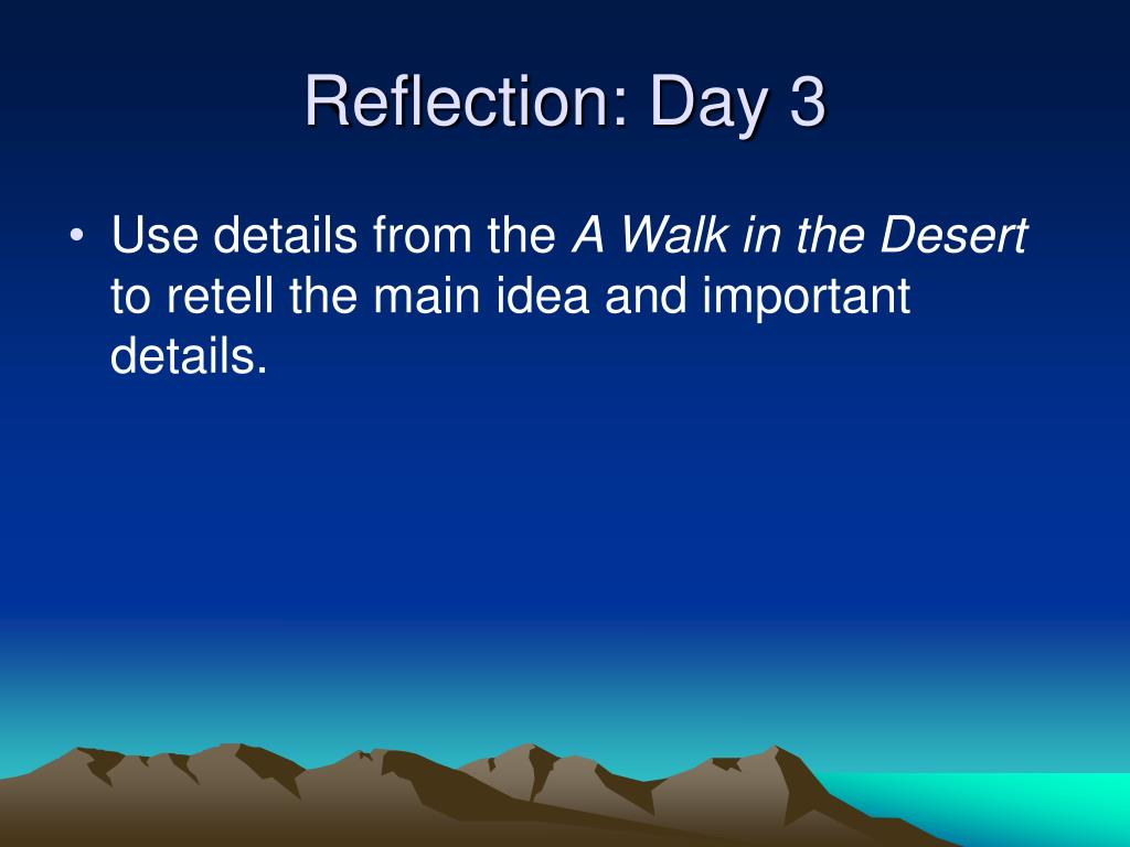 Reflection: Day 3