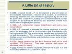 a little bit of history33