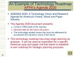 an example of technology roadmap afpa s agenda 2020