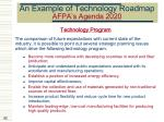 an example of technology roadmap afpa s agenda 202082