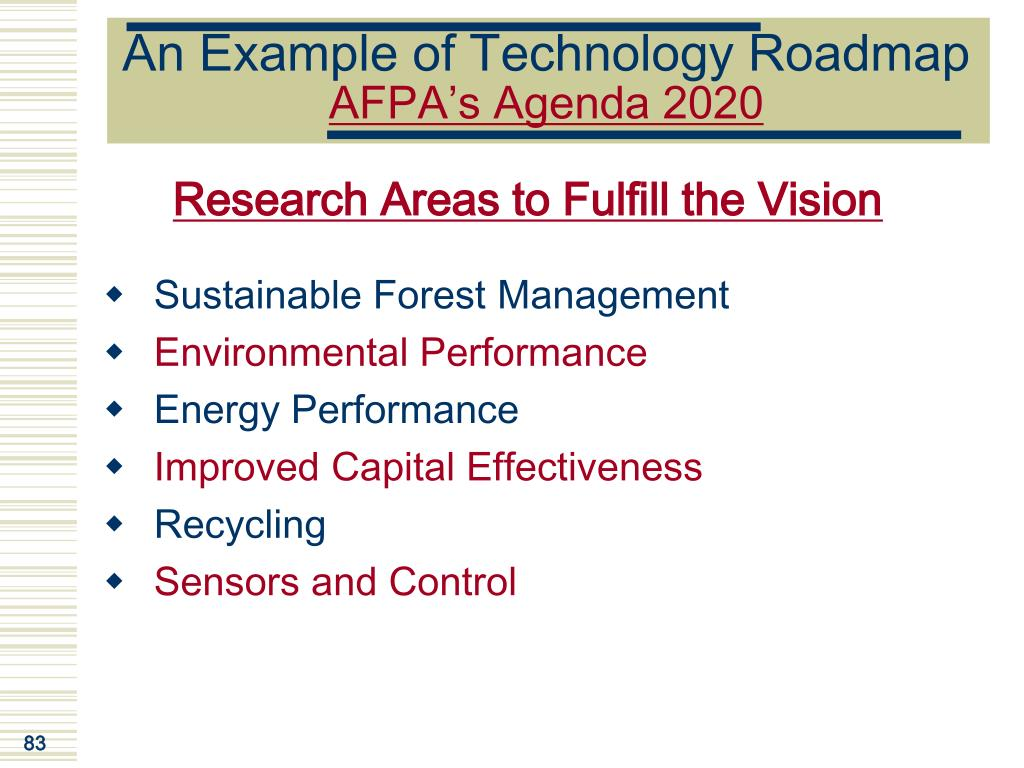An Example of Technology Roadmap