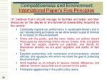 competitiveness and environment international paper s five principles
