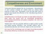 competitiveness and environment