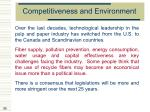 competitiveness and environment55