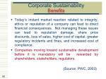 corporate sustainability benefits