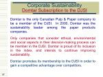 corporate sustainability domtar subscription to the djsi