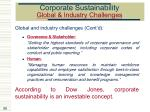 corporate sustainability global industry challenges59