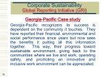 corporate sustainability global reporting initiative gri70