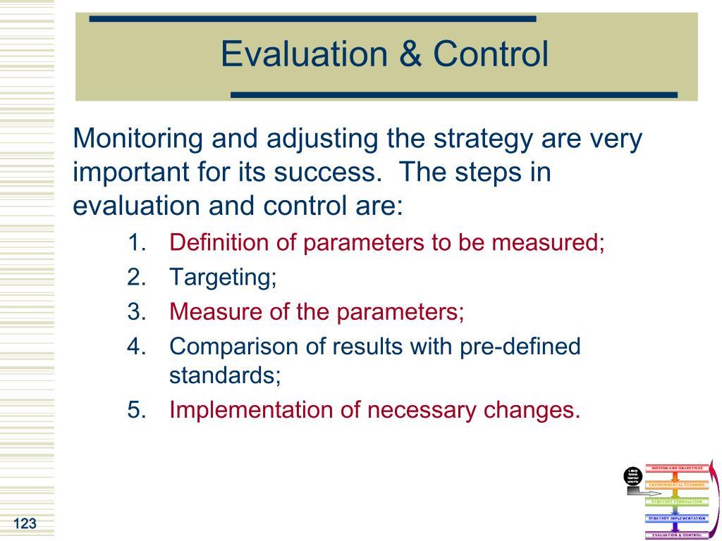 Evaluation & Control