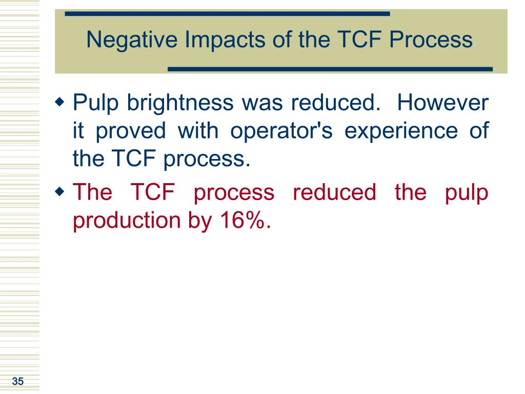 Negative Impacts of the TCF Process