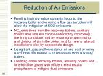 reduction of air emissions89