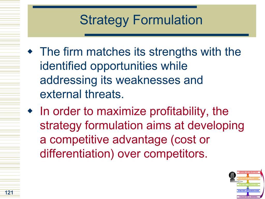 Strategy Formulation
