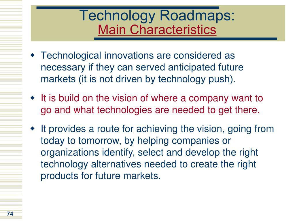 Technology Roadmaps: