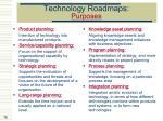 technology roadmaps purposes