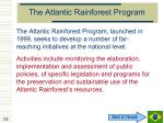 the atlantic rainforest program