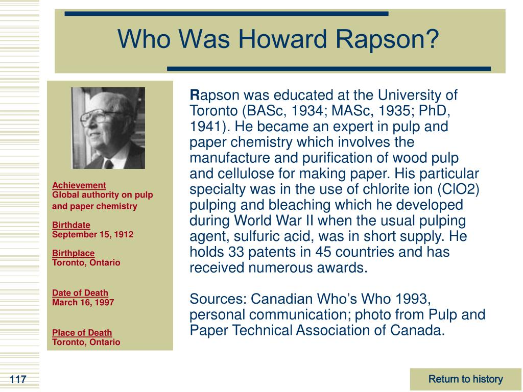 Who Was Howard Rapson?