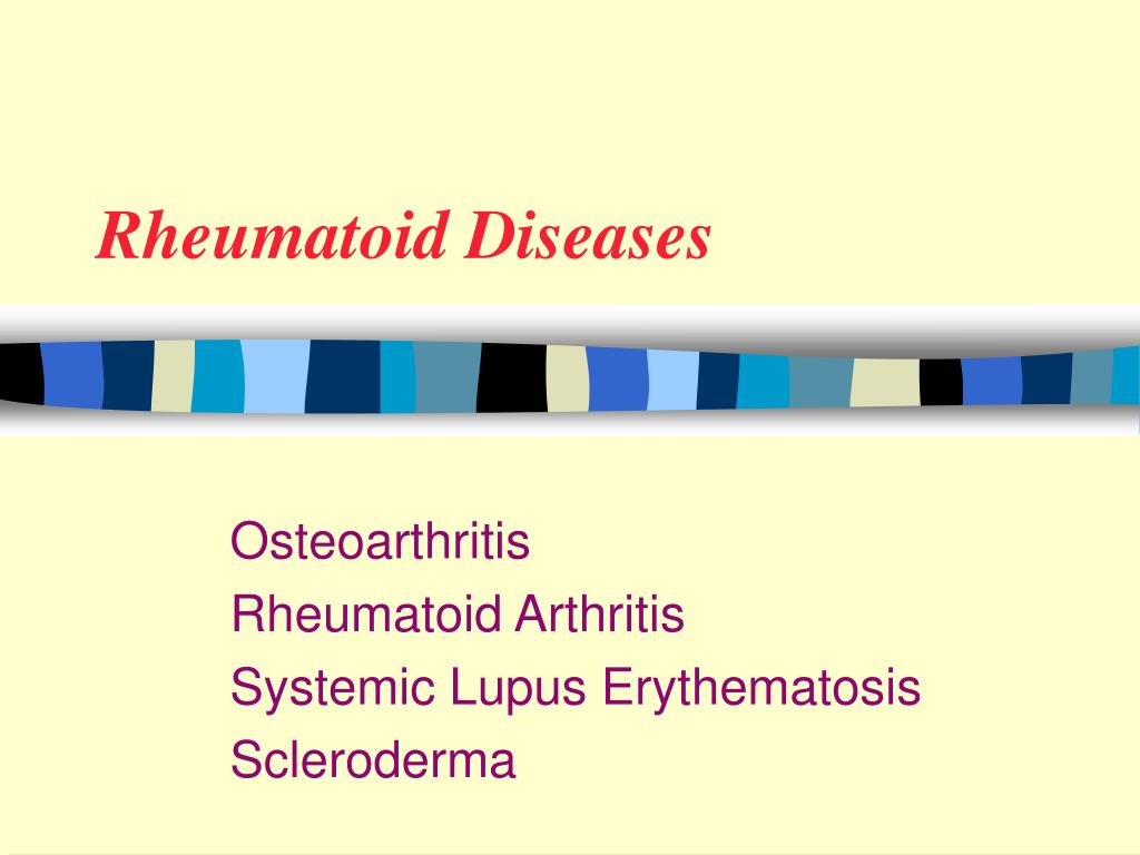 Rheumatoid Diseases