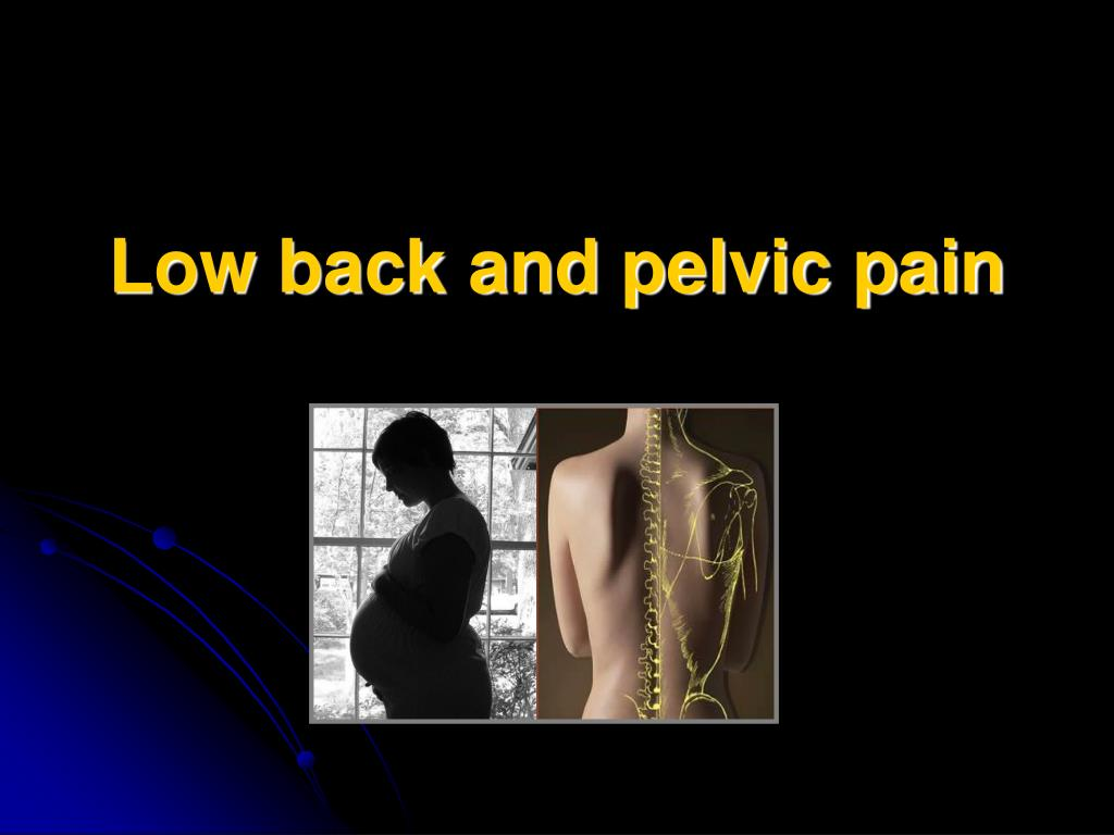 Low back and pelvic pain