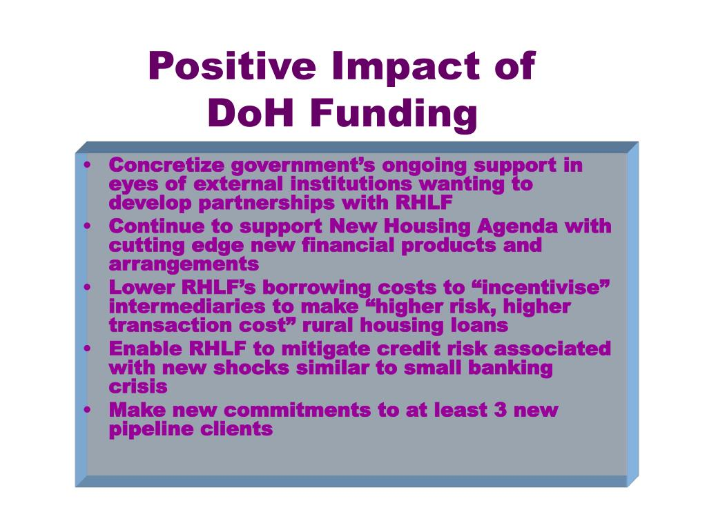 Positive Impact of DoH Funding