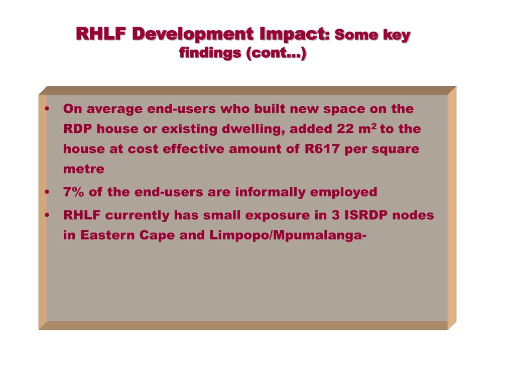 RHLF Development Impact