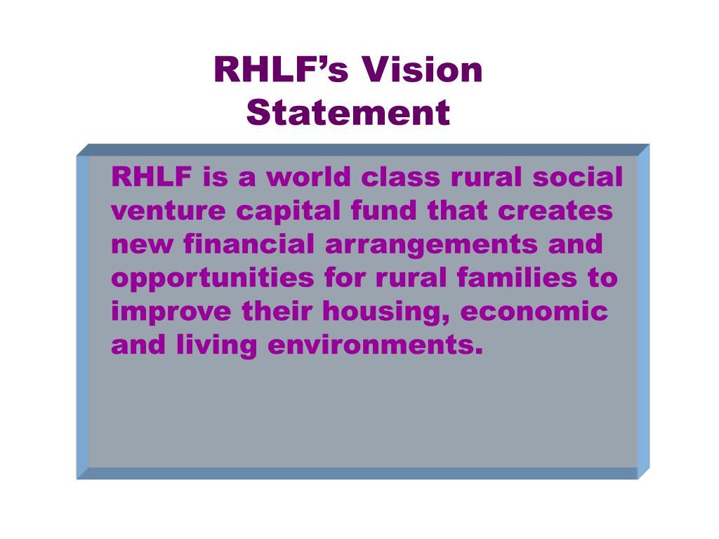 RHLF's Vision Statement