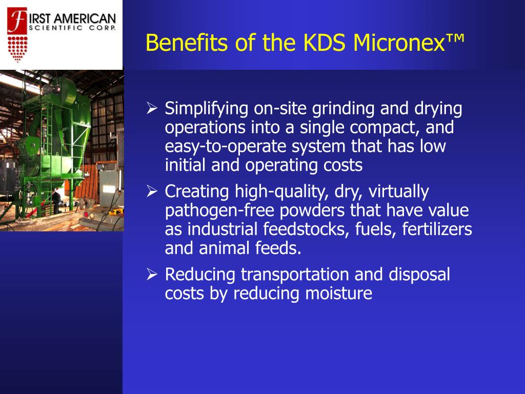 Benefits of the KDS Micronex™