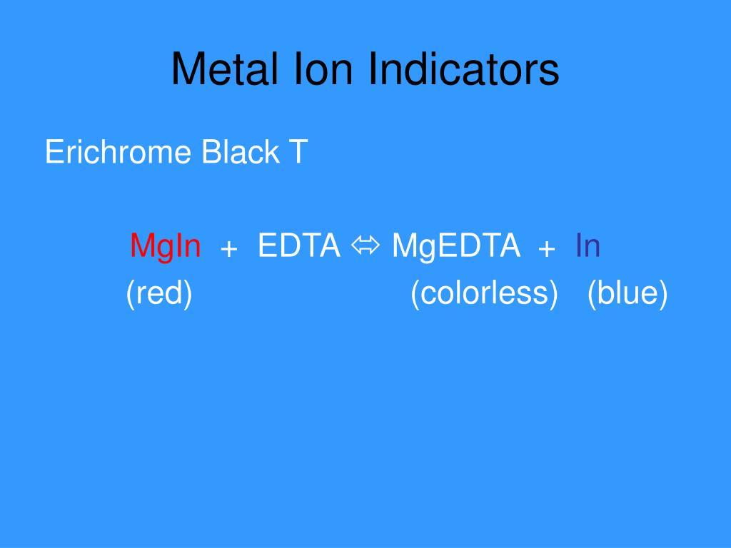 Metal Ion Indicators