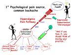 1 psychological pain source common backache
