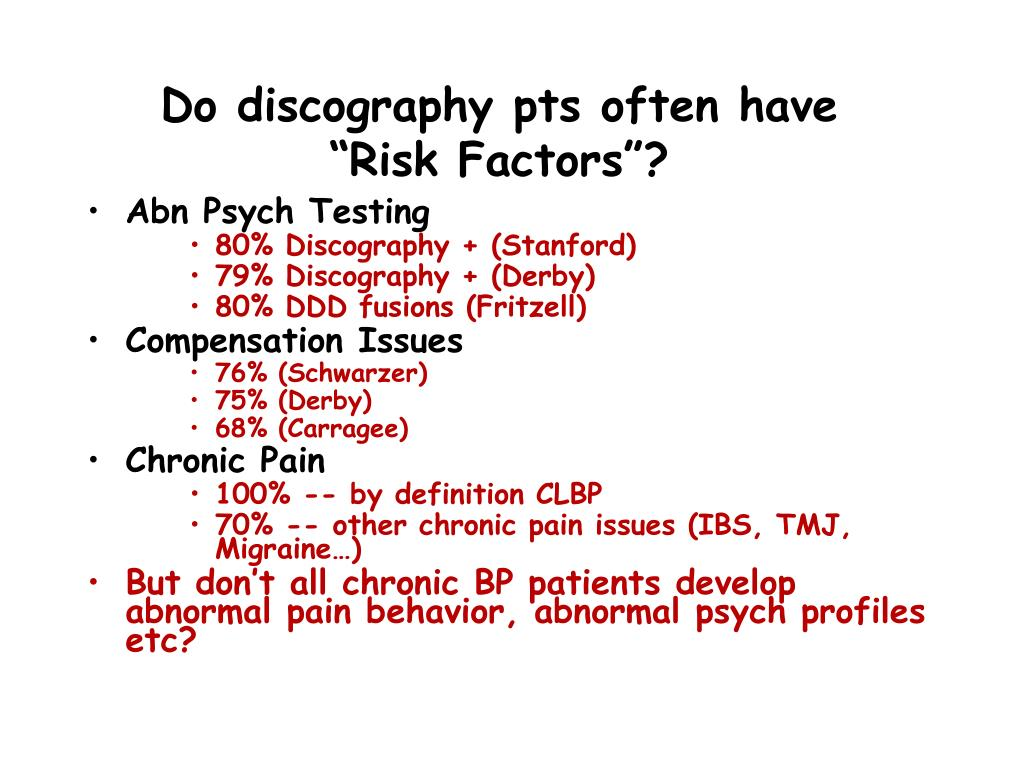 Do discography pts often have