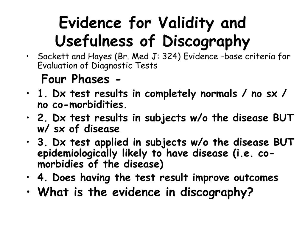 Evidence for Validity and Usefulness of Discography