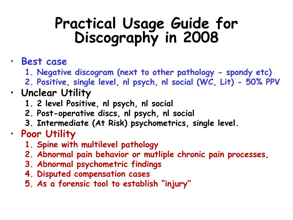 Practical Usage Guide for Discography in 2008