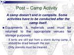 post camp activity