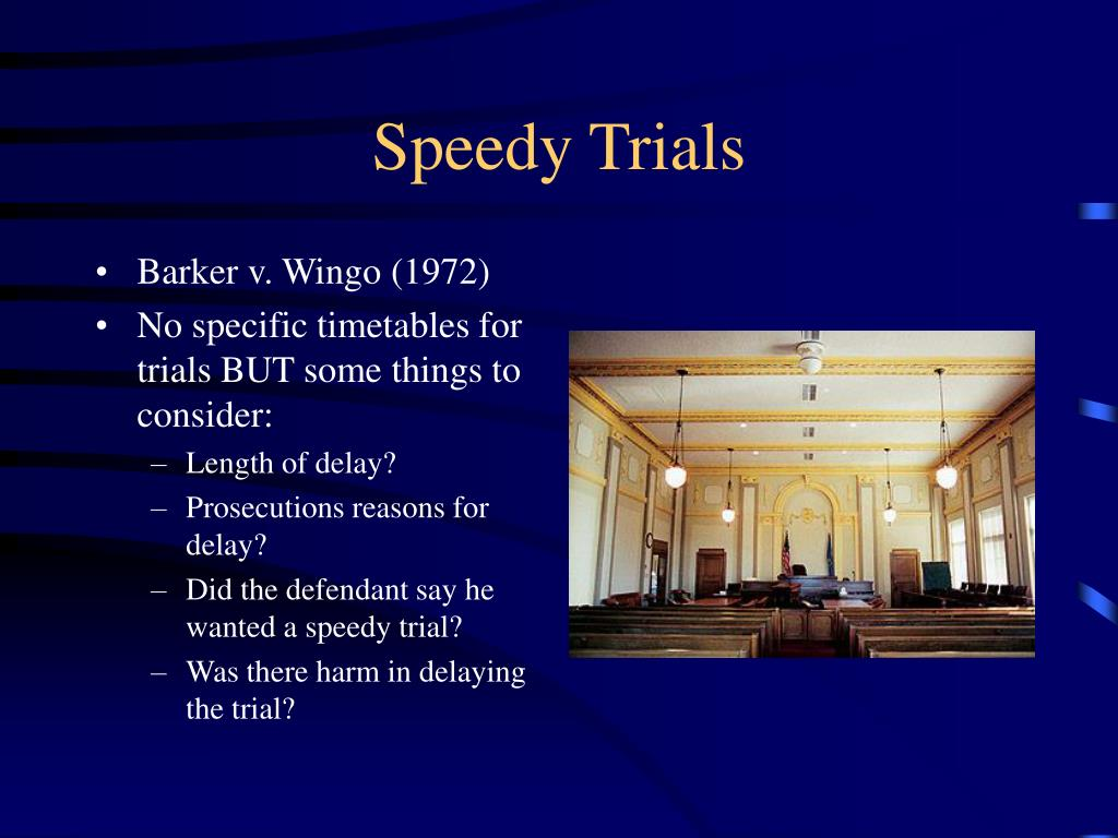 barker v wingo Audio transcription for oral argument - april 11, 1972 in barker v wingo warren e burger: we'll hear arguments next in number 71-5255 barker against wingo.