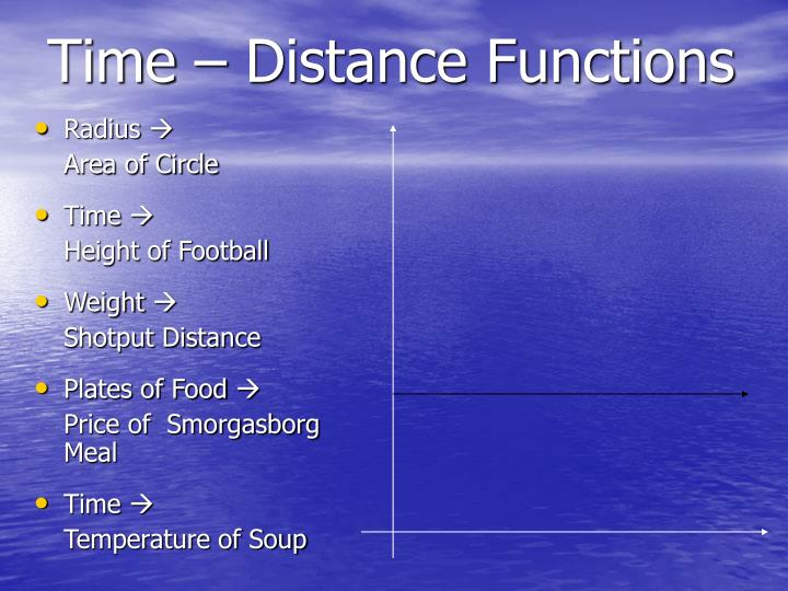 Time distance functions3