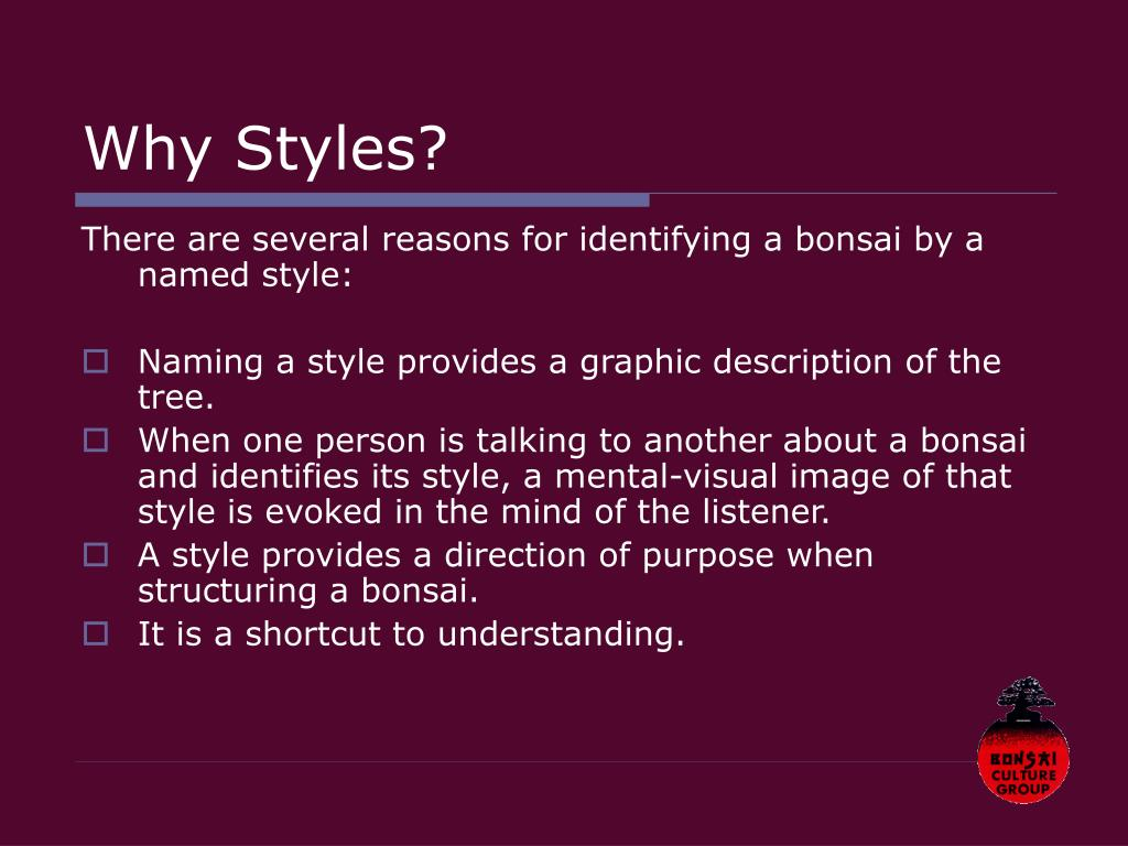 Why Styles?