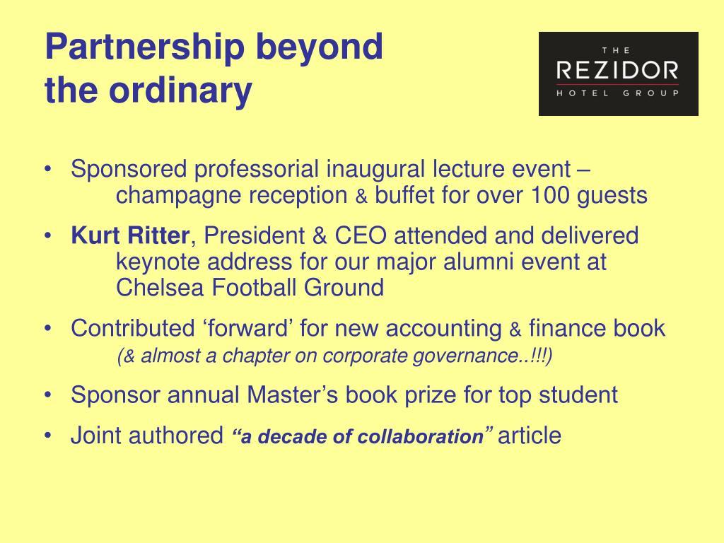 Partnership beyond