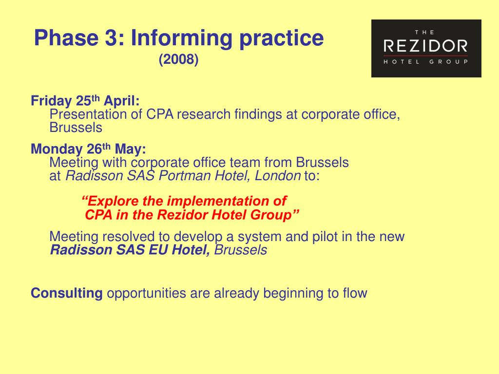 Phase 3: Informing practice