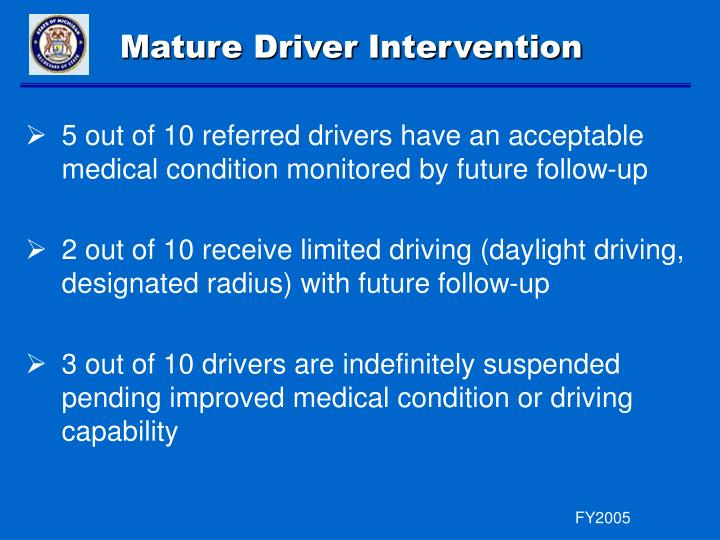 Mature Driver Intervention