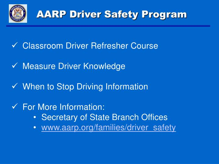 AARP Driver Safety Program