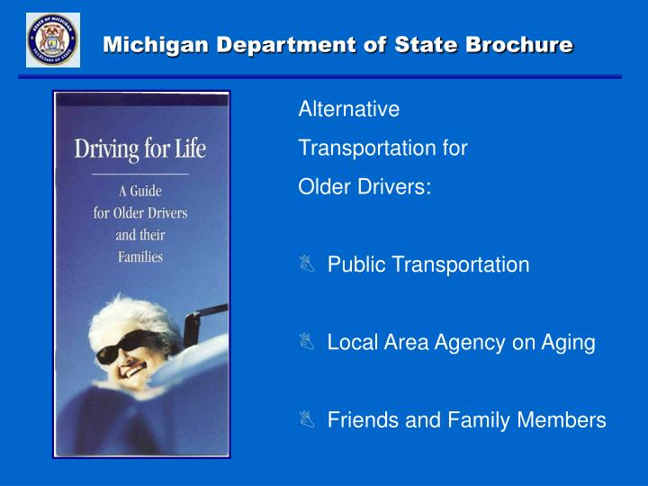 Michigan Department of State Brochure