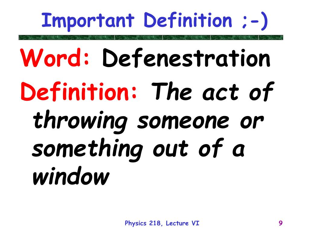 Important Definition ;-)