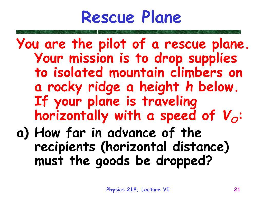 Rescue Plane
