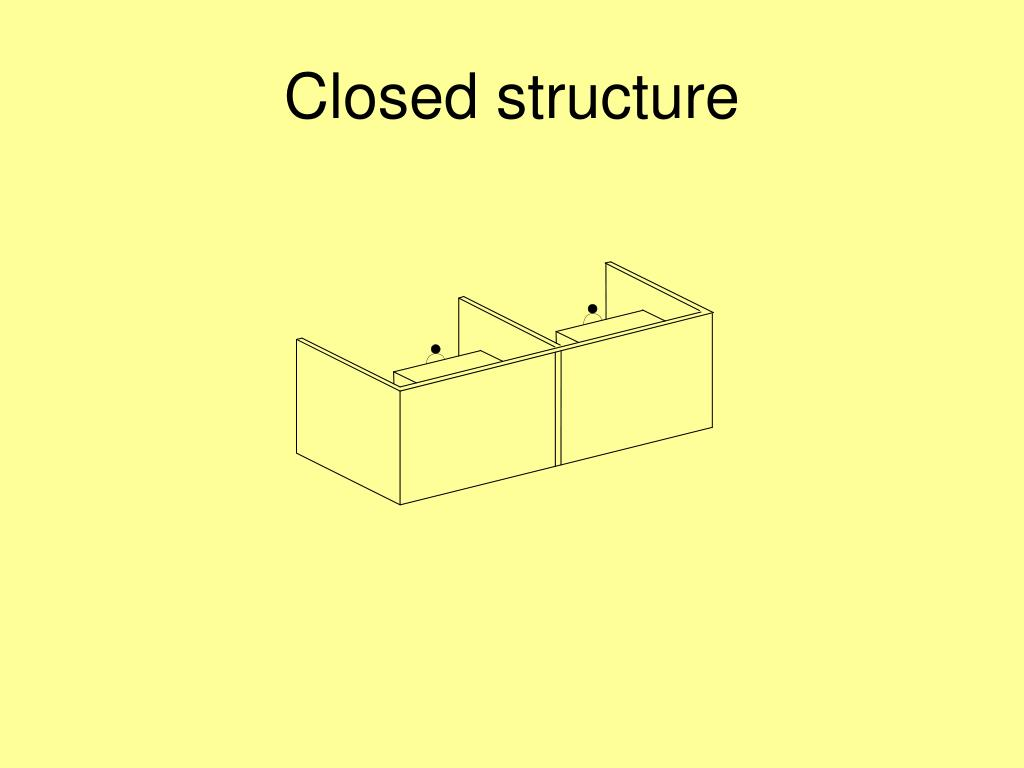 Closed structure